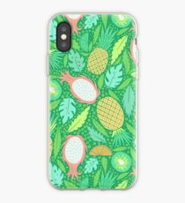 Summer Fruit on Green iPhone Case