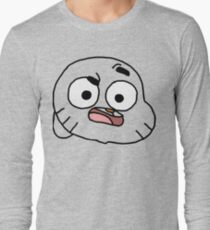 Gumball Watterson outline Long Sleeve T-Shirt
