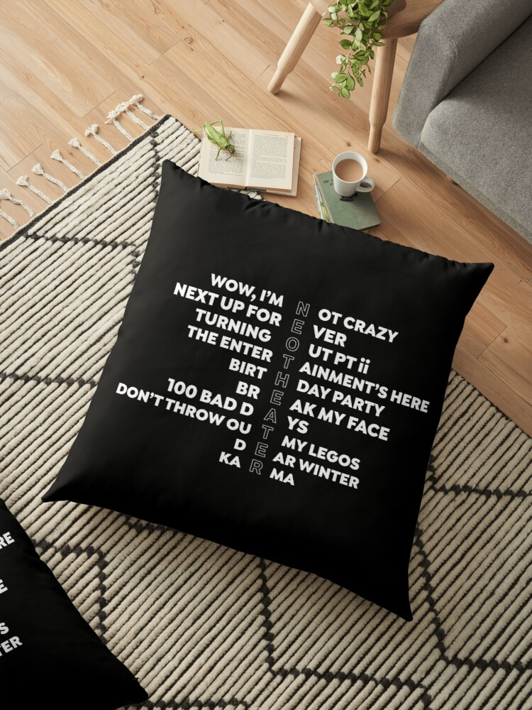 'Neotheater Acrostic' Floor Pillow by usernate