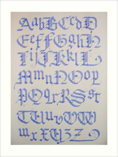 Alphabet Artistique vieux alphabet anglais », impressions artistiques par billgrant43