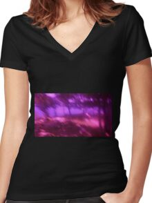 Hollow Hill Trees n°6 Women's Fitted V-Neck T-Shirt