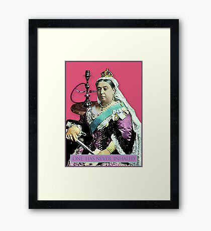 The Queen and the Hookah Framed Print
