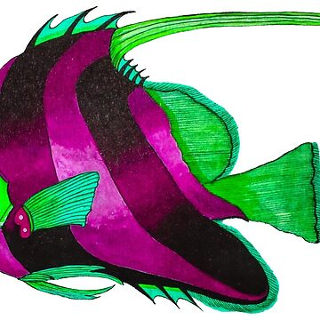 odd purple fish painting by marmur