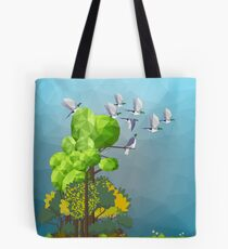 Kererū in the forest Tote Bag