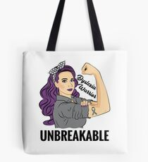 Dyslexia Warrior Unbreakable Awareness Support Tote Bag