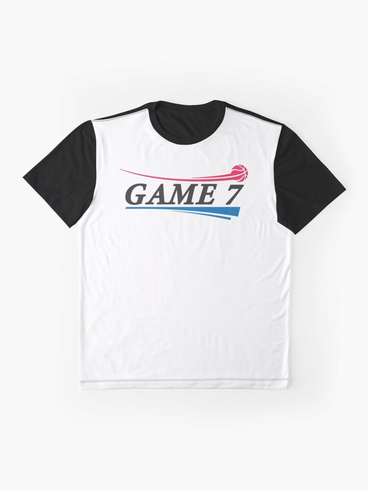 Alternate view of Game 7 x Basketball Graphic T-Shirt