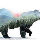« Paysage d'ours » par Threeleaves