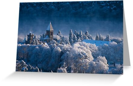 Fort Augustus Abbey in Winter by Jessica Smith