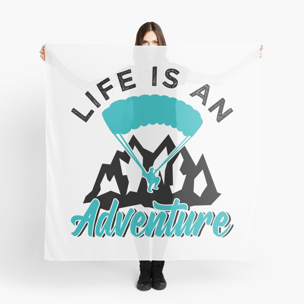 Paragliding Life Is An Adventure Scarf