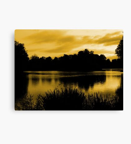 Reflections In Orange Canvas Print