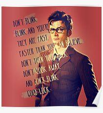 DON'T BLINK!! Poster