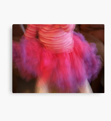 in a ruffle of color she dances on petite feet Canvas Print