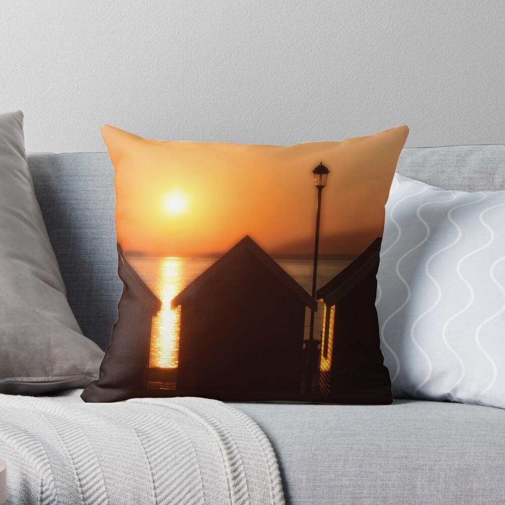 Sunset At Gurnard IOW Throw Pillow