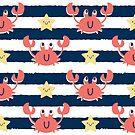 Stripy Nautical Crabs by abbilaura