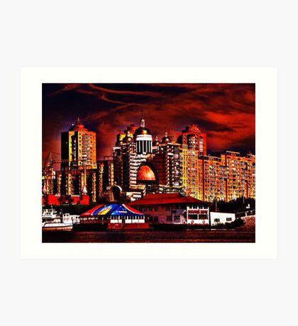 Golden Coast Art Print