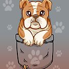 Pocket Cute English Bulldog Puppy Dog by TechraNova