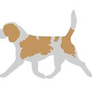 Beagle (Trotting) Greetings Card by RedPictus