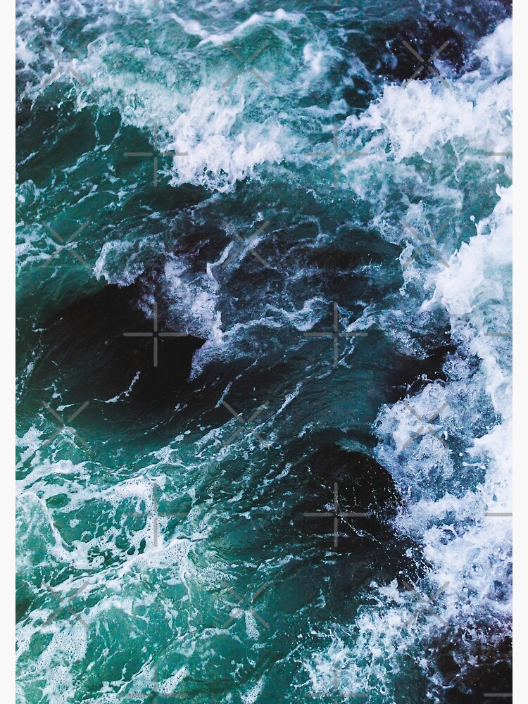 Blue Ocean Waves, Sea Photography, Seascape by PrintsProject