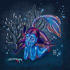 Metro&medio Designs - Blue mermaid by metroymedio