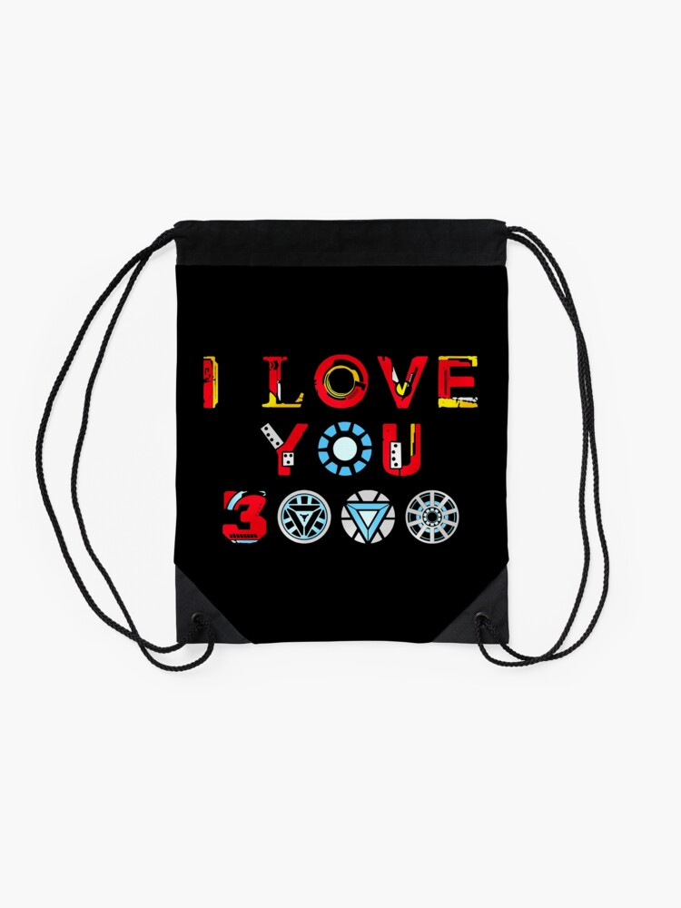 Alternate view of I Love You 3000 v3 Drawstring Bag