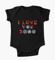 I Love You 3000 v3 Short Sleeve Baby One-Piece