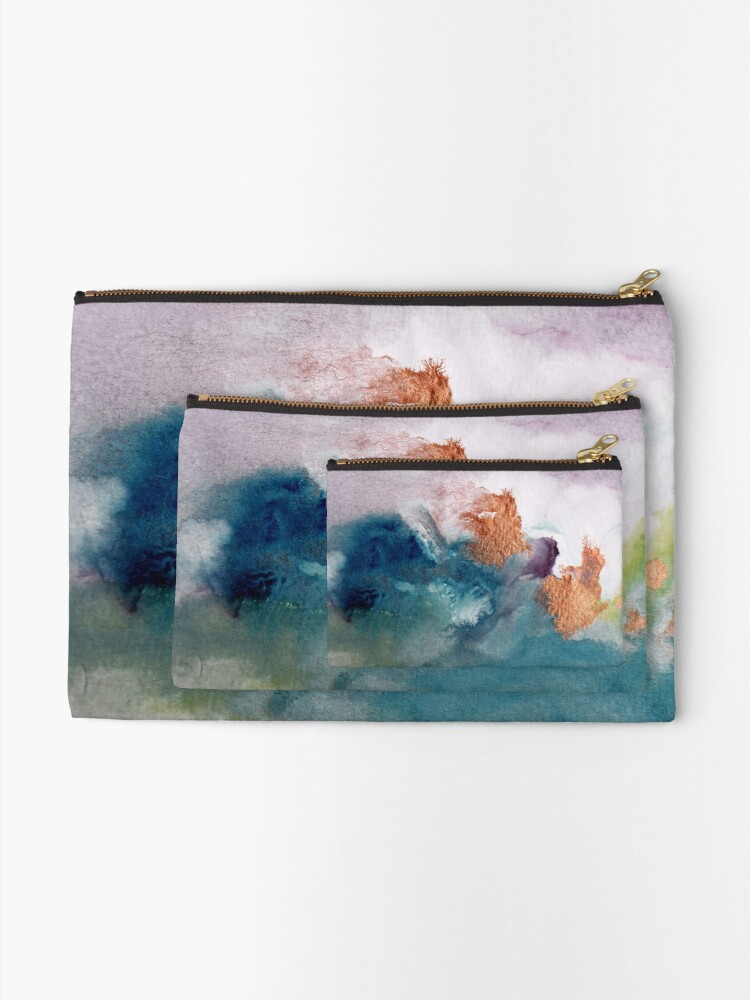Alternate view of Abstract Birth Zipper Pouch