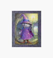 Purlin the Grey - wizard cat Art Board Print
