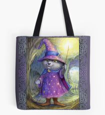 Purlin the Grey - wizard cat Tote Bag