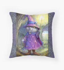 Purlin the Grey - wizard cat Floor Pillow