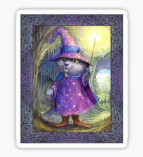 Purlin the Grey - wizard cat Sticker