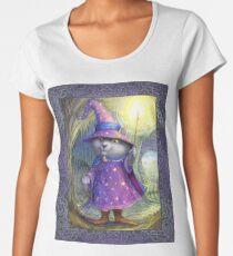 Purlin the Grey - wizard cat Premium Scoop T-Shirt