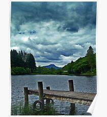Jetty Over Loch Ard, Scotland. Poster
