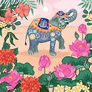 Trunk Up For Luck Indian Elephant by Angie Spurgeon