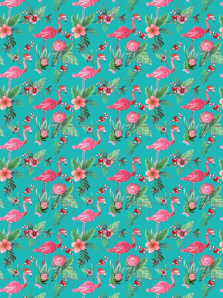 Christmas Flamingo Tropical Holiday by MagentaRose