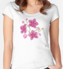 Orchid flowers Fitted Scoop T-Shirt