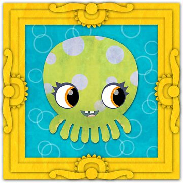 Octopus in a Frame! Print by orangepeel
