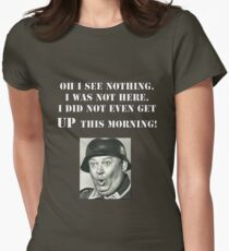 Sgt Schultz Hogan's Heroes Womens Fitted T-Shirt
