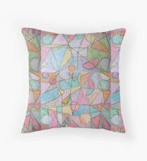 Cojín de suelo Cera dibujado a mano multicolor diseño de formas geométricas abstractas.