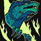 Drache der grünen Flamme von ziodynes098