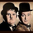 Laurel & Hardy Farbe von andrew  read