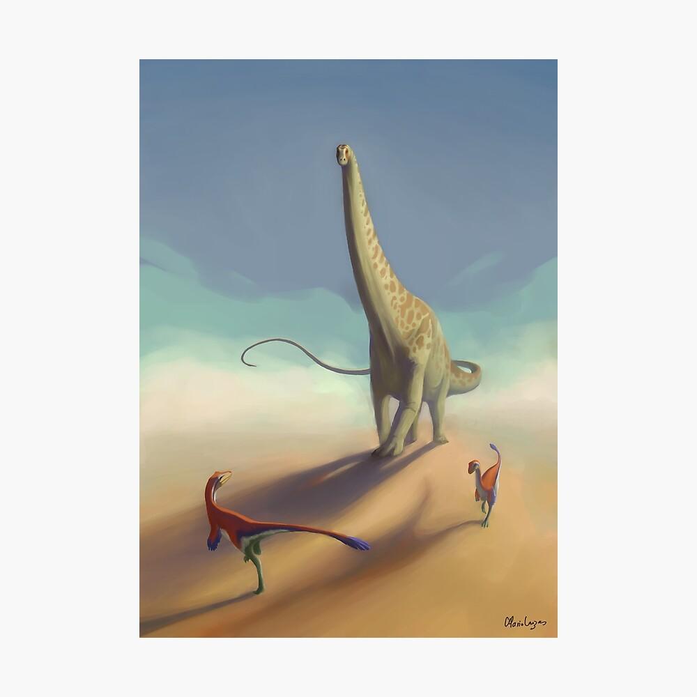 Diplodocus and Ornitholestes Photographic Print