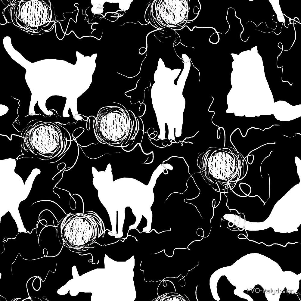 white kittens pattern by FVO-italydesign