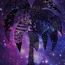Space Palm Tree - Postcard by tropicalsamuelv