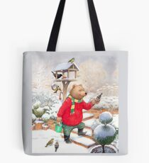 Feeding the Birds Tote Bag