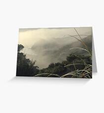 Mist over Opua, New Zealand. Greeting Card