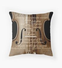 violin with words A.H. Overstreet © 2010 patricia vannucci Throw Pillow