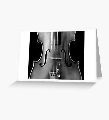 copy of Stradivarious 'Soil' 1714 (b&w) © 2010 patricia vannucci  Greeting Card