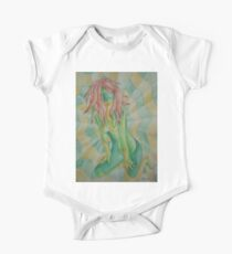 abstract retro art of posing lady Kids Clothes