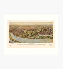 The ultimate Washington D.C. Map (1915) Art Print