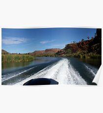 Speeding along on the Ord River Poster